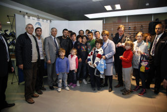Incontro con i calciatori del Napoli